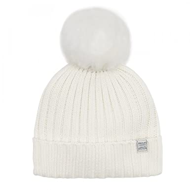 Joules Pop A Pom Womens Hat One Size Cream at Amazon Women s ... 481b36d80858