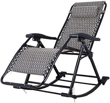 Haaemy Zero Gravity Chair Silla de Gravedad Cero Silla Mecedora Silla Fija de relajación Silla de Aluminio Mecedora Tumbona Plegable Ajustable Tumbona para terraza, Piscina: Amazon.es: Hogar
