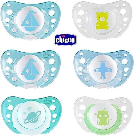 Chupete silicona Chicco Day & Night Boys Newborn, 0 – 6 meses ...