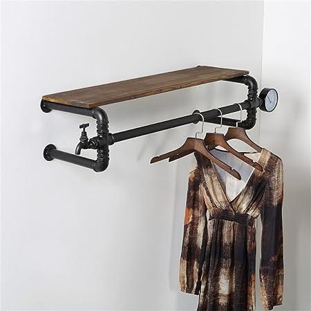Multifunction Wall Shelf Ushaped Pipe Rack Coat Hooks With Storage Amazing Vintage Style Coat Hook Rack With Shelf
