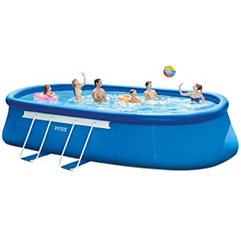 Intex Oval Frame Pool Set U2013 20ft X 12ft X 48in