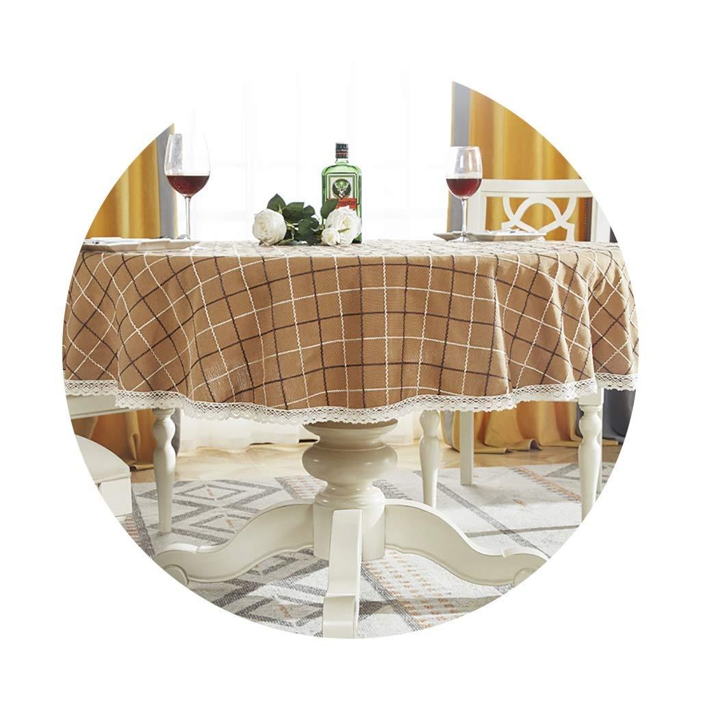 YTJ-JP 円形のテーブルクロス家庭用レストランに適した厚いヨーロッパの円形のコーヒーテーブルクロス (Color : A, Size : 160cm) 160cm A B07SS1HZYH