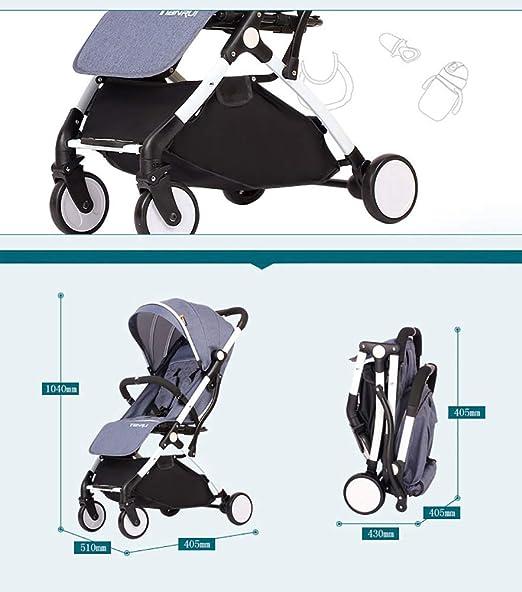 Baby carriage Peaceip Cochecito de bebé Gemelo, Carro de niño Desmontable, Marco de Carro de Plata de la aleación de Aluminio del Carro Doble Plegable Ligero Ligero (Color : Verde Fluorescente): Amazon.es: