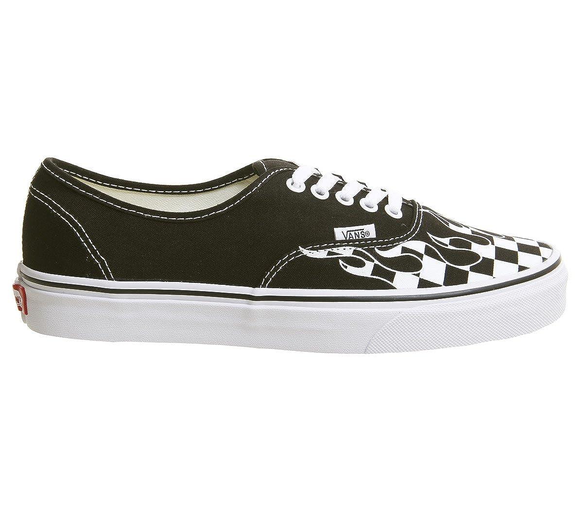 Vans Checker AUTHENTIC, Unisex Erwachsene Sneakers Checker Vans Flame schwarz true Weiß 45071f