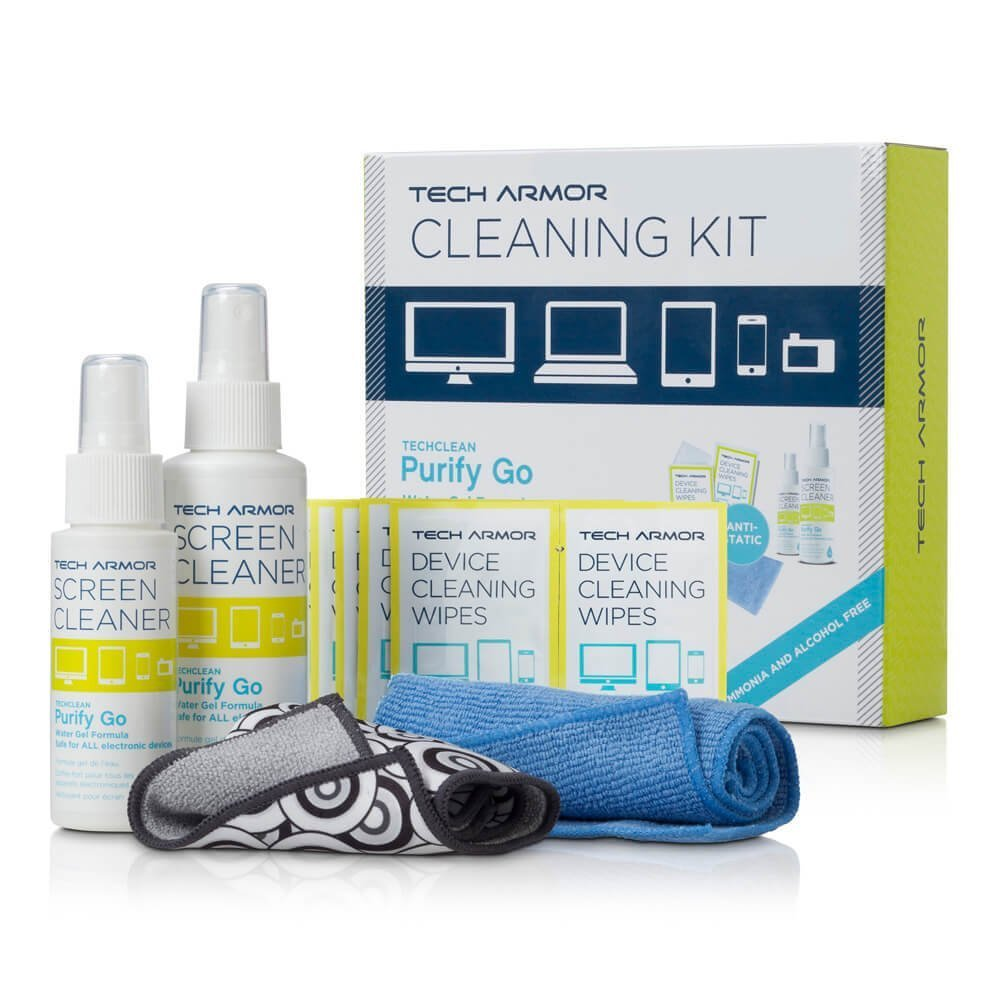 Tech Armor 120 ML Pro Cleaning Kit with ExtraMove Formula and Cleansing Wipes by Tech Armor