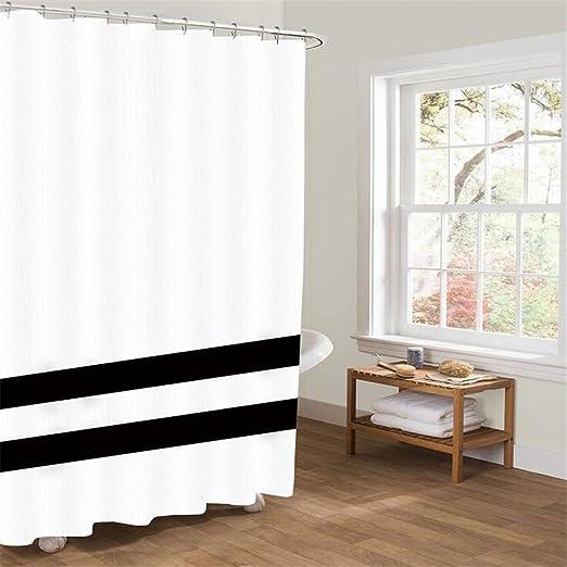 AIKE cortina de ducha 3D creativa cortinas impermeables poliéster ...