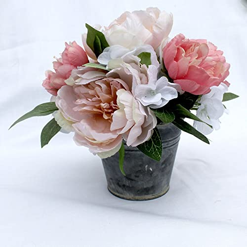 Amazon peony small arrangement spring table centerpiece silk peony small arrangement spring table centerpiece silk flower arrangement mothers day gift summer mightylinksfo