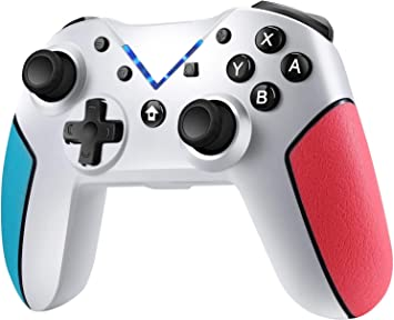 Jamswall Mando para Nintendo Switch, Controlador Inalámbrico Bluetooth Apoya Vibración, Turbo y Giroscopio, Gamepad para Nintendo Switch/Lite/Android/PS3/PC (Blanco): Amazon.es: Electrónica
