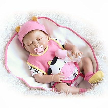 Decdeal - Reborn Muñeca Bebé Niña Está Durmiendo con Chupete ...