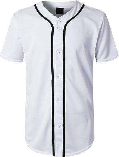 Hip Hop Button-Down Baseball Jersey
