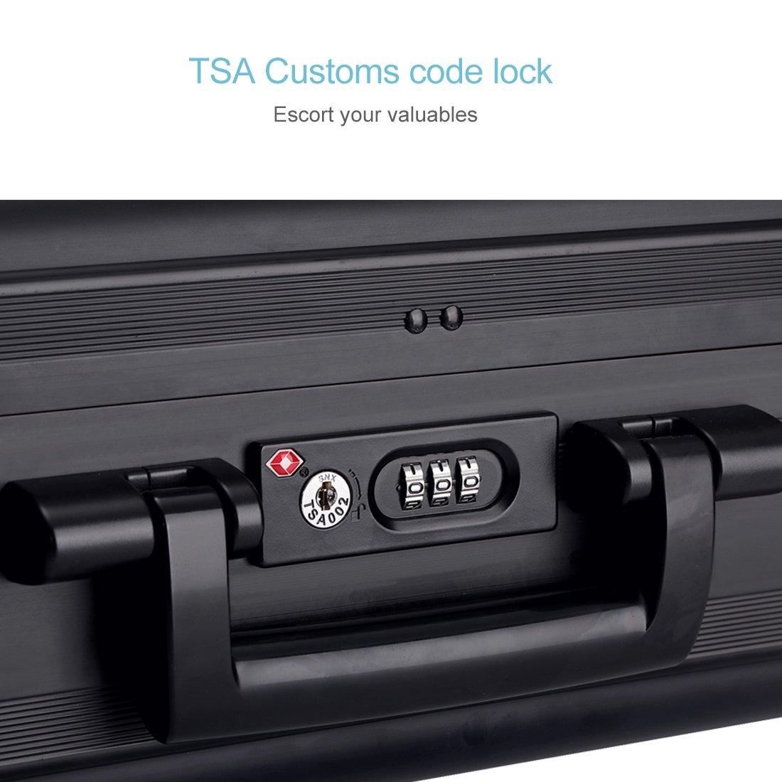 Tokers Aluminum Briefcase Attache Cases for men Laptop ...
