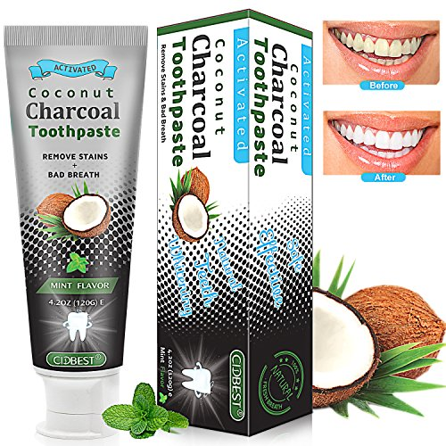 Coconut Activated Charcoal Toothpaste, Teeth Whitening Toothpaste, Charcoal Toothpaste, Teeth Whitening, Black Toothpaste Whiten Teeth Naturally (Mint Flavor) (Coconut Toothpaste Mint)
