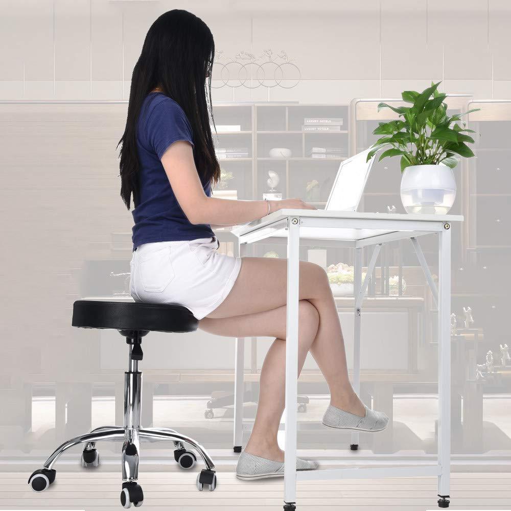 Salon Stool, Elaco 13inch×21inch×19-23inch Hydraulic Salon Stool Office Chair Beauty Salon Work Bench Bar Chair Black USA Warehouse