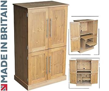 hideaway home office. Solid Pine Desk, 4 Door Computer Workstation, Hideaway, Hidden Home Office  Cabinet, Hideaway F