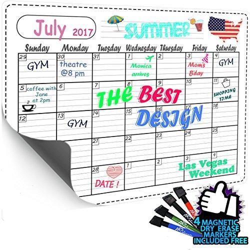 Magnetic Refrigerator Calendar Kit Included