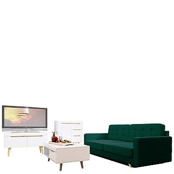 Mirjan24 Wohnzimmer Set Nordi 8 + Sofa Vegas, Wohnzimmer Im Skandinavischen  Stil. Schlafsofa