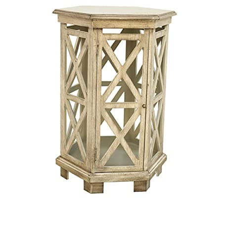 Crestview Collection Brookline Hexagon Accent Table