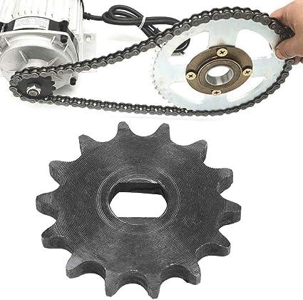tongzhou E-Bike Kettenrad Ritzel 14 Zahnrad Ritzel 428 Metall Kettenrad F/ür Elektroroller 12x17mm