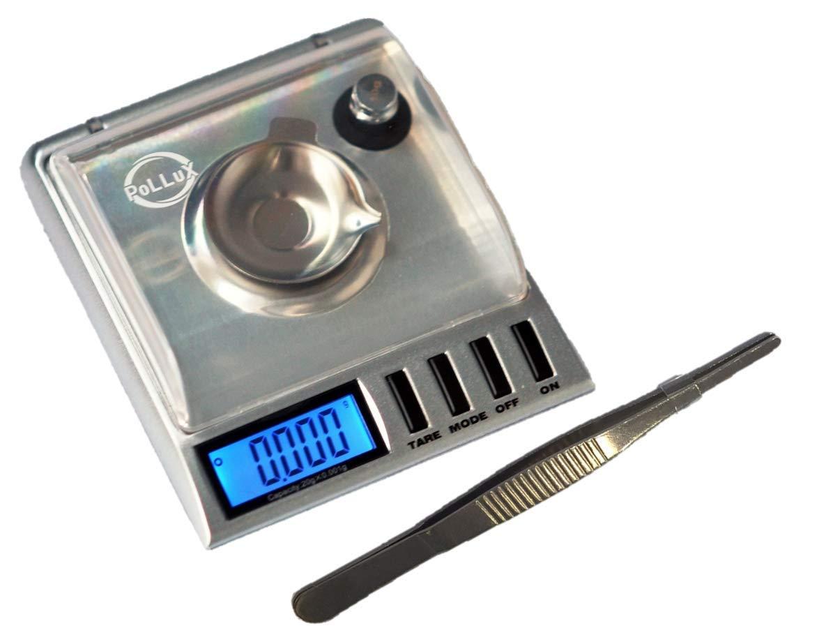 PoLLux GEM20 High Precision Portable Milligram Digital Pocket Scale 20 x 0.001g