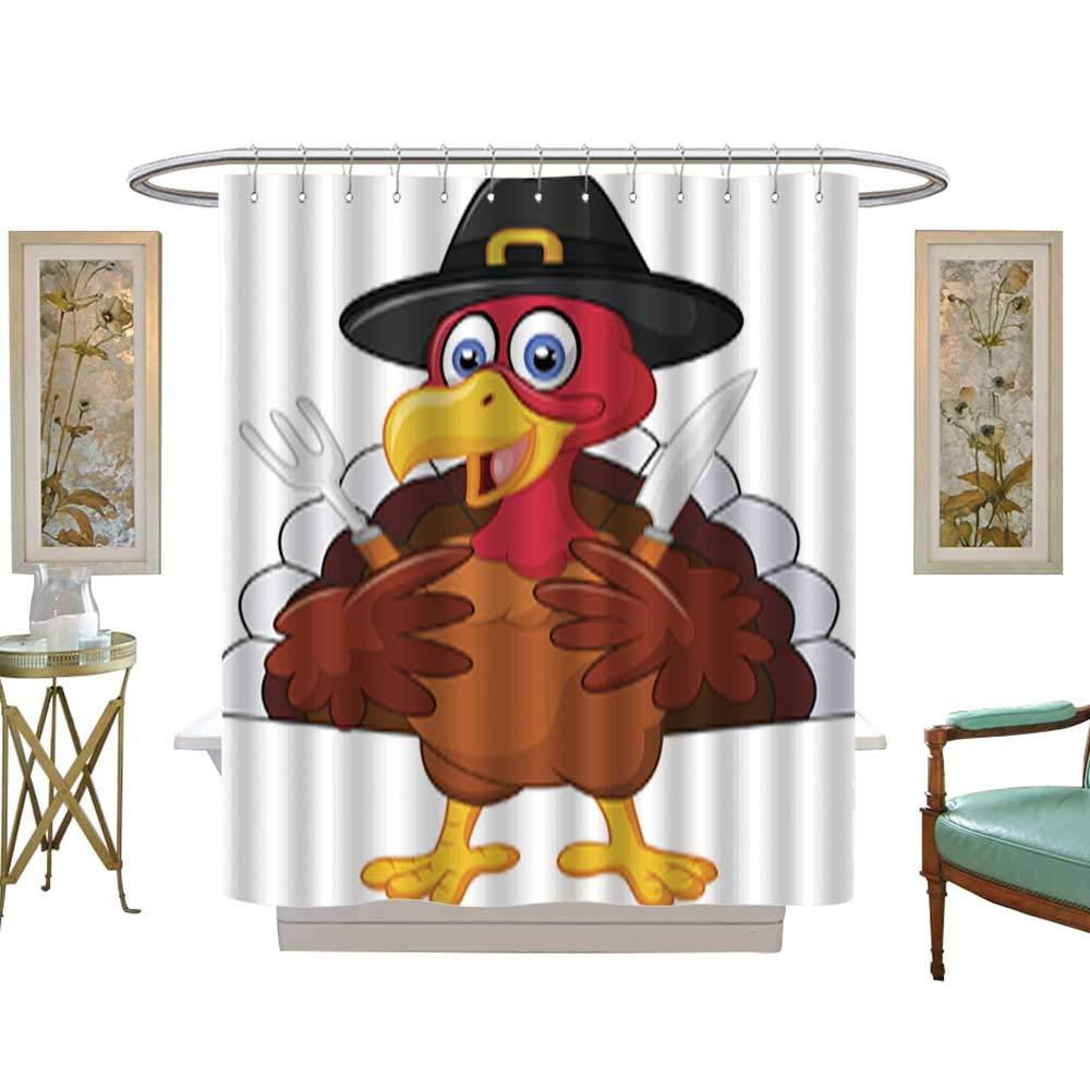 Iuvolux シャワーカーテン 感謝祭 七面鳥 テキスタイル バスルーム デコレーション 装飾 W48 x H3720 Inch B07L9NG8DW カラー11 W48 x H3720 Inch