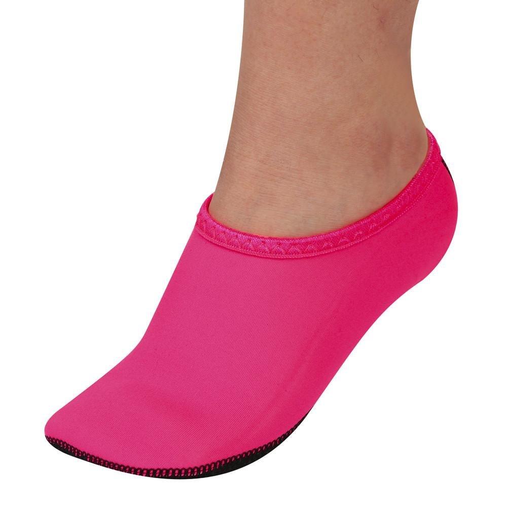 Men Women Yoga Surf Beach Snorkeling Socks Swimming Diving Socks Swim Shoes (S, Hot pink)