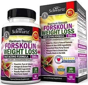 Forskolin Extract for Weight Loss. Pure Forskolin Diet Pills & Belly Buster Supplement. Premium Appetite Suppressant, Metabolism Booster, Carb Blocker & Fat Burner for Women and Men Coleus Forskohlii