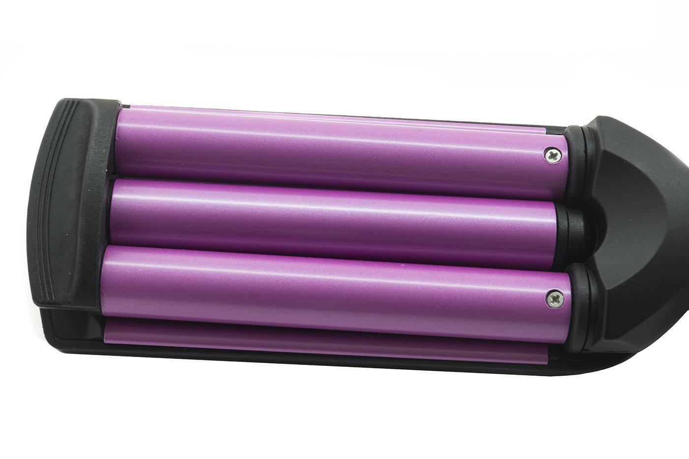 Plancha de pelo, para un efecto ondulado, tubo triple, rizador SN-2022: Amazon.es: Iluminación