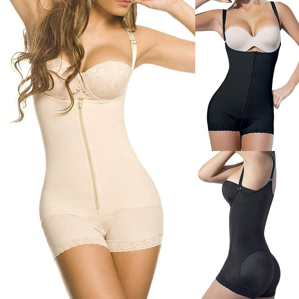 0f116925051 Amazon.com  Allywit- Women Latex Waist Trainer Bodysuit Tummy Control  Shapewear Full Body Shaper Open Bust Corset  Home   Kitchen