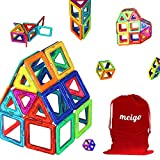 MEIGO Magnetic Blocks - Kids Magnetic Building Tiles Set STEM Educational Magnet Toys for Toddlers (30pcs)