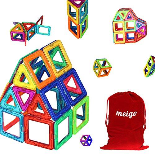 MEIGO Kids Magnetic Building Tiles Set