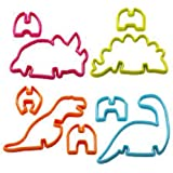 Home-X 3D Dinosaur Cookie Cutters. Set of 4.
