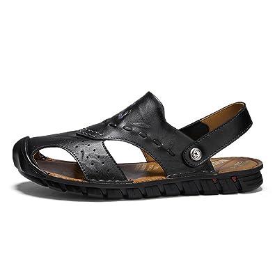 LEDLFIE Sommer Sandalen Komfort Casual Beach Schuhe Joker Atmungsaktive Hausschuhe