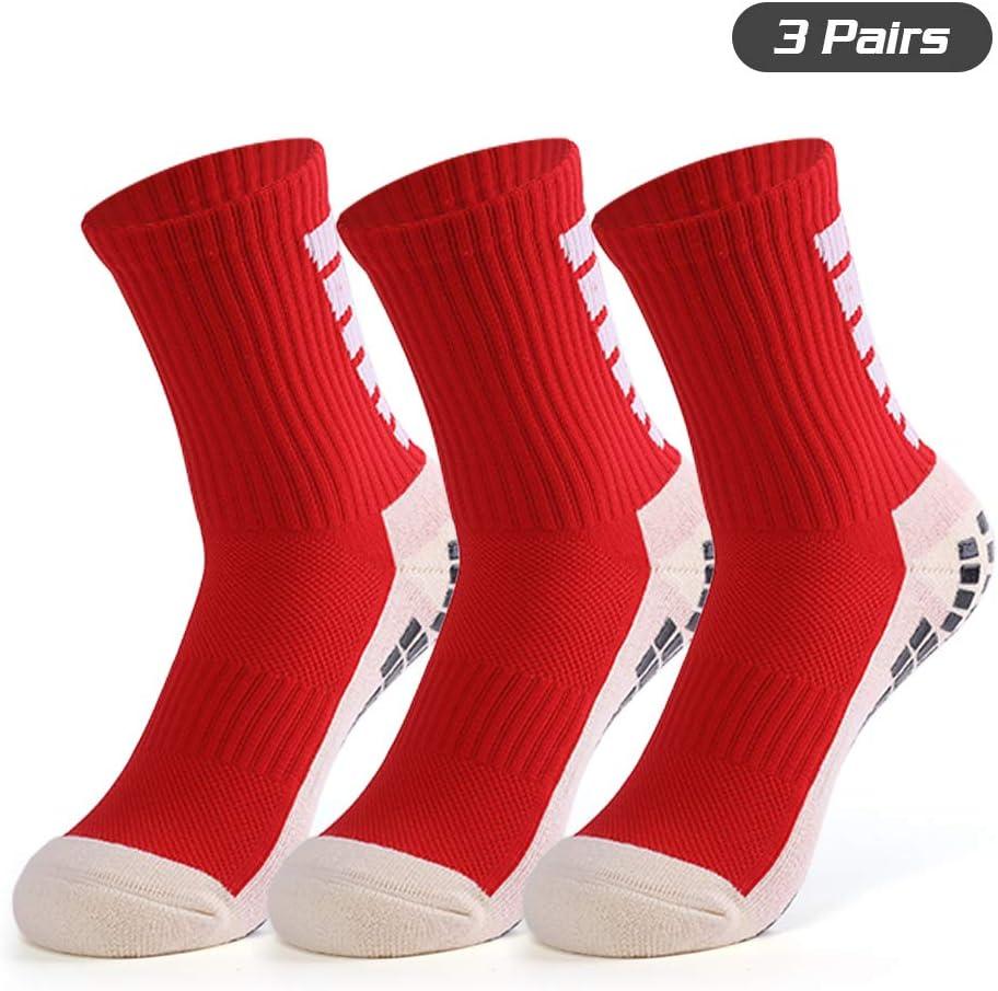 Anti Blister Cushion Wicking Breathable Non-slip Aheletic Socks for Football Basketball Baseball Yoga Runing Hiking Trekking Anti-slip Sport Sock for Men Women Festnight Football Socks