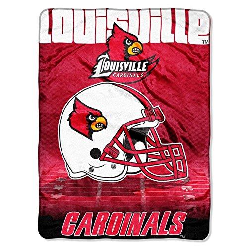 (Officially Licensed NCAA Louisville Cardinals Overtime Micro Raschel Throw Blanket, 60