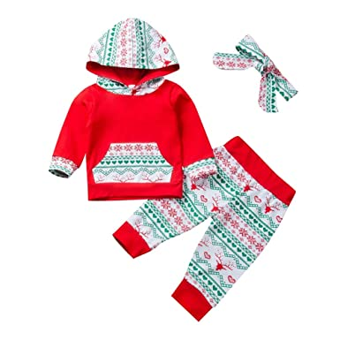Hongyuangl - Chándal navideño con Capucha para recién Nacido ...