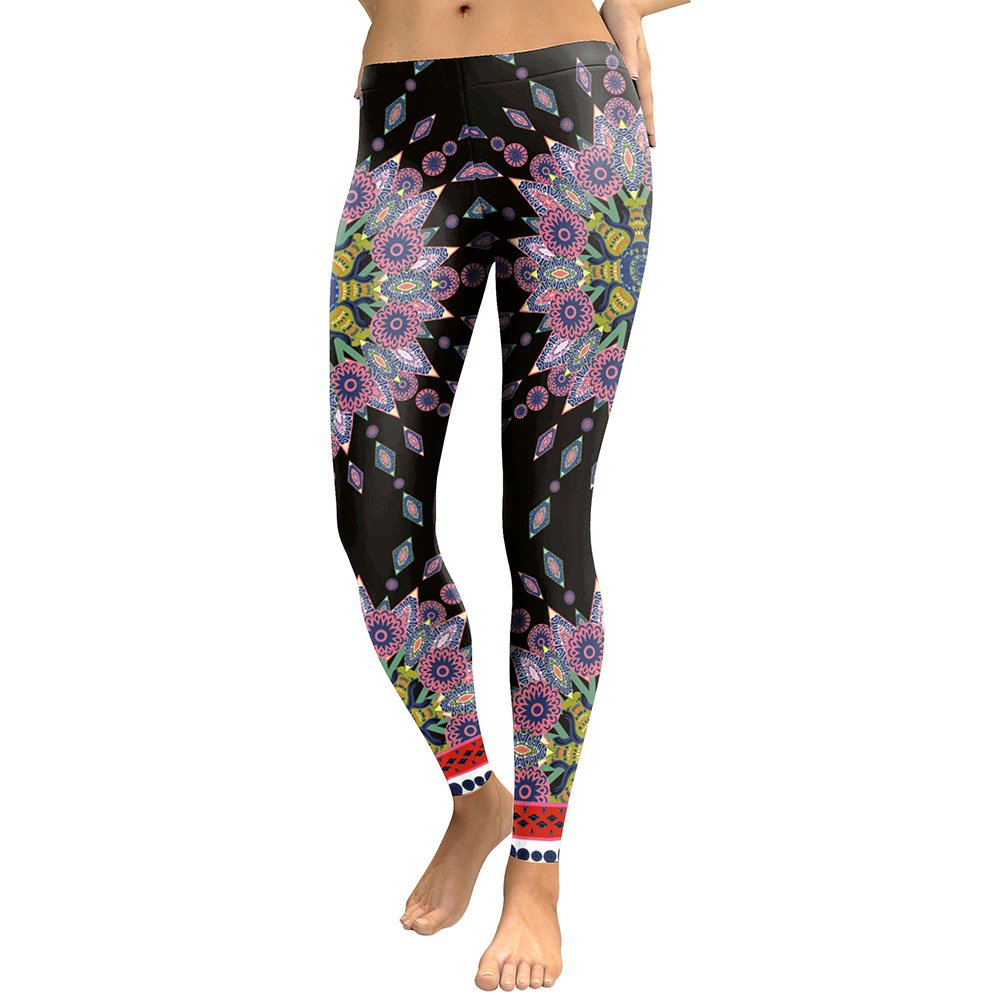 MAOYYMYJK Yoga-Hose Für Damen Eng Anliegende, Figurbetonte Leggings Mit Digitaldruck