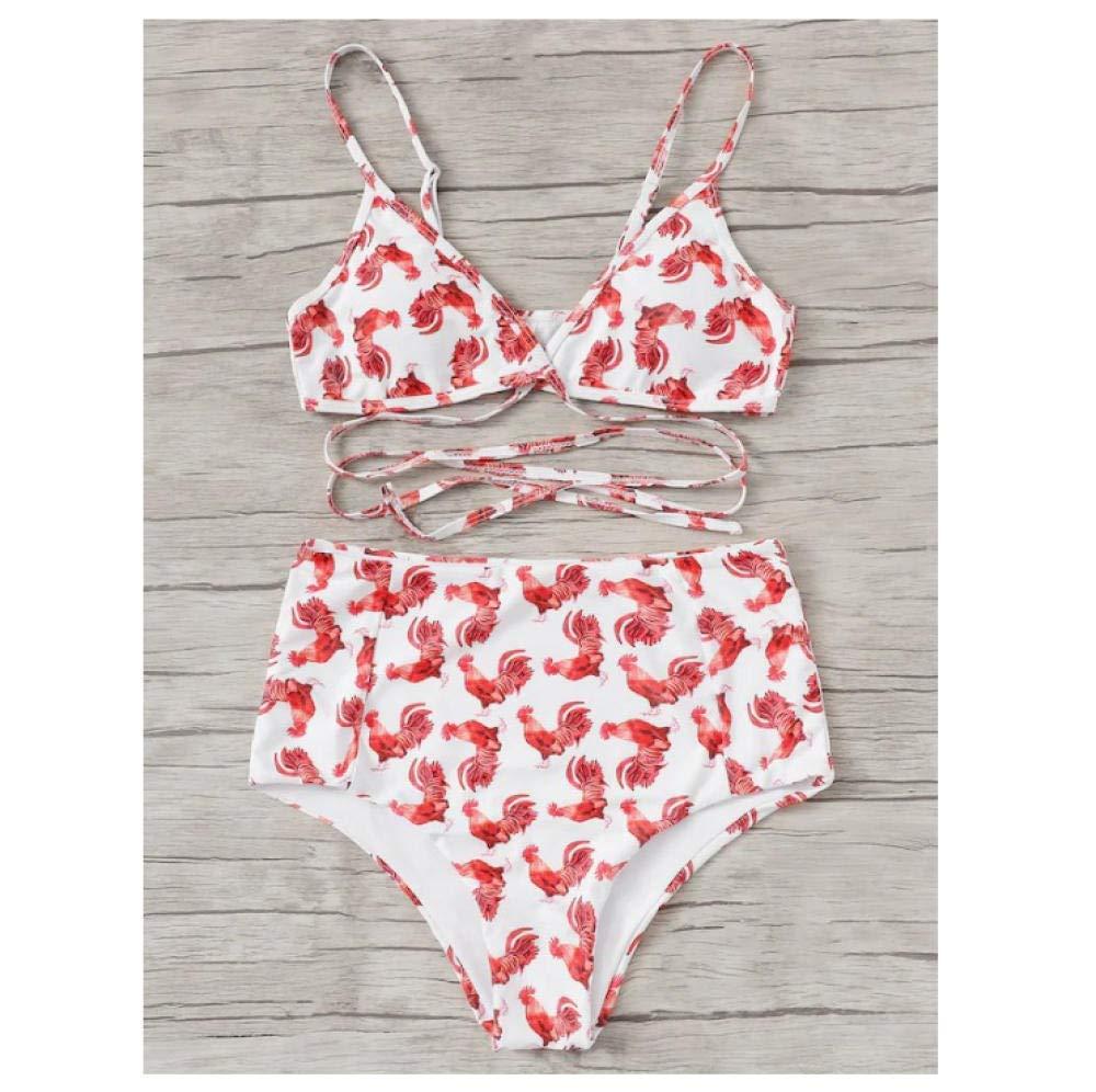 HJNBKC Verano Modelos Femeninos Bikini Sexy Dividir Rojo ...