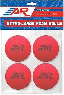 A&R Sports Pro Series Balles en Mousse Extra Large (Lot de 4), Rouge/Bleu