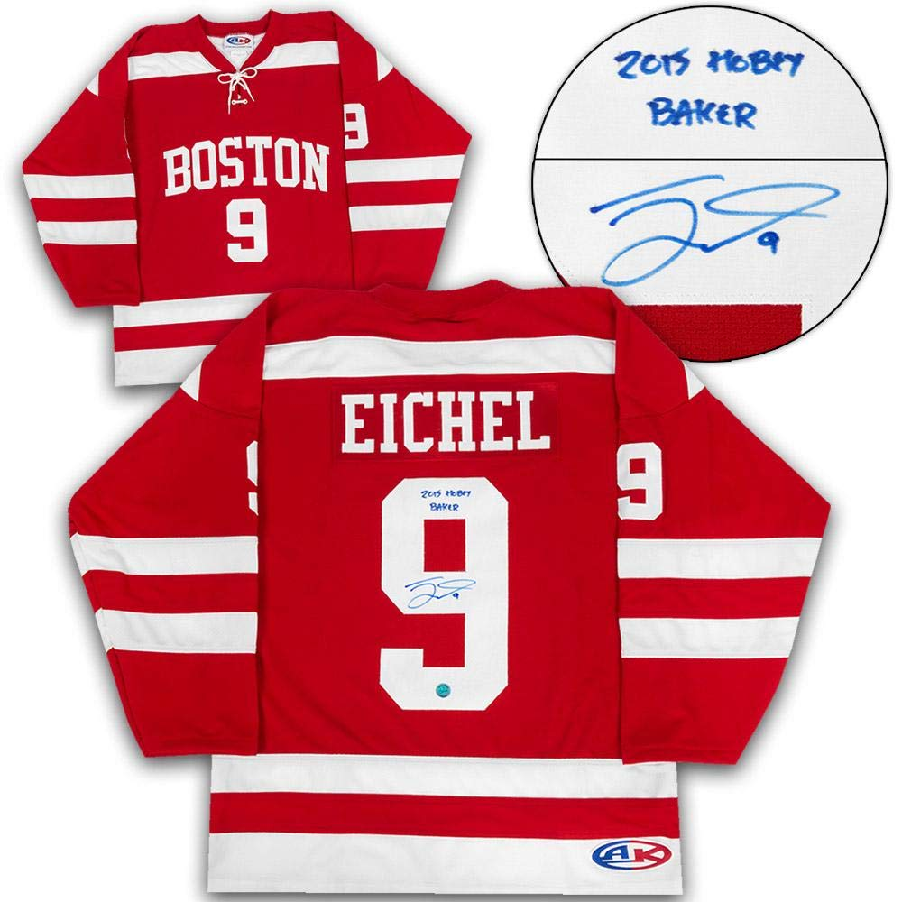 Jack Eichel Boston University Terriers Signed Hobey Baker Custom Hockey...