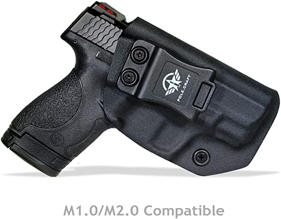 Kydex IWB Holster For Smith & Wesson M&P Shield M2.0 9mm 40 S&W / Crimson Trace Laser / Integrated CT Laser - Inside Waistband Carry Concealed Holster M&P Shield 9mm - Point Touch