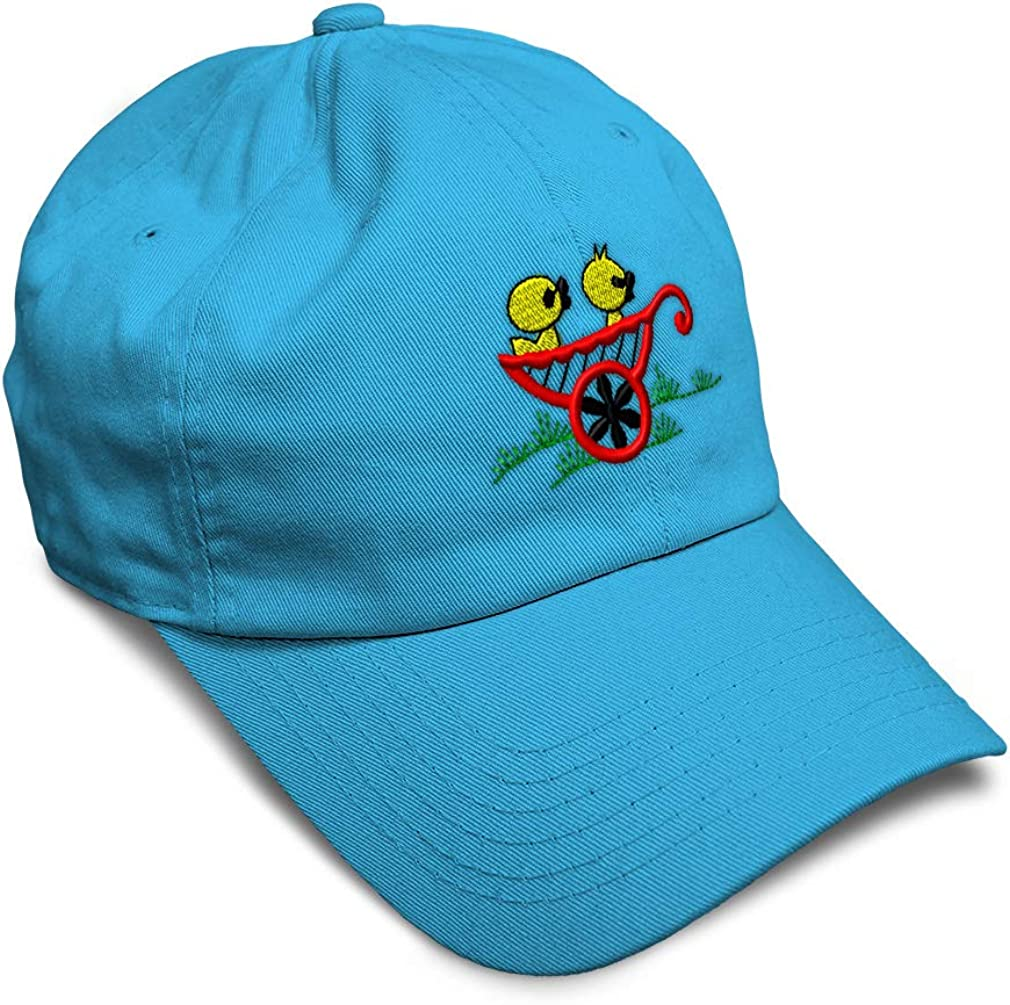 Custom Soft Baseball Cap Ducks in Wagon Embroidery Dad Hats for Men /& Women