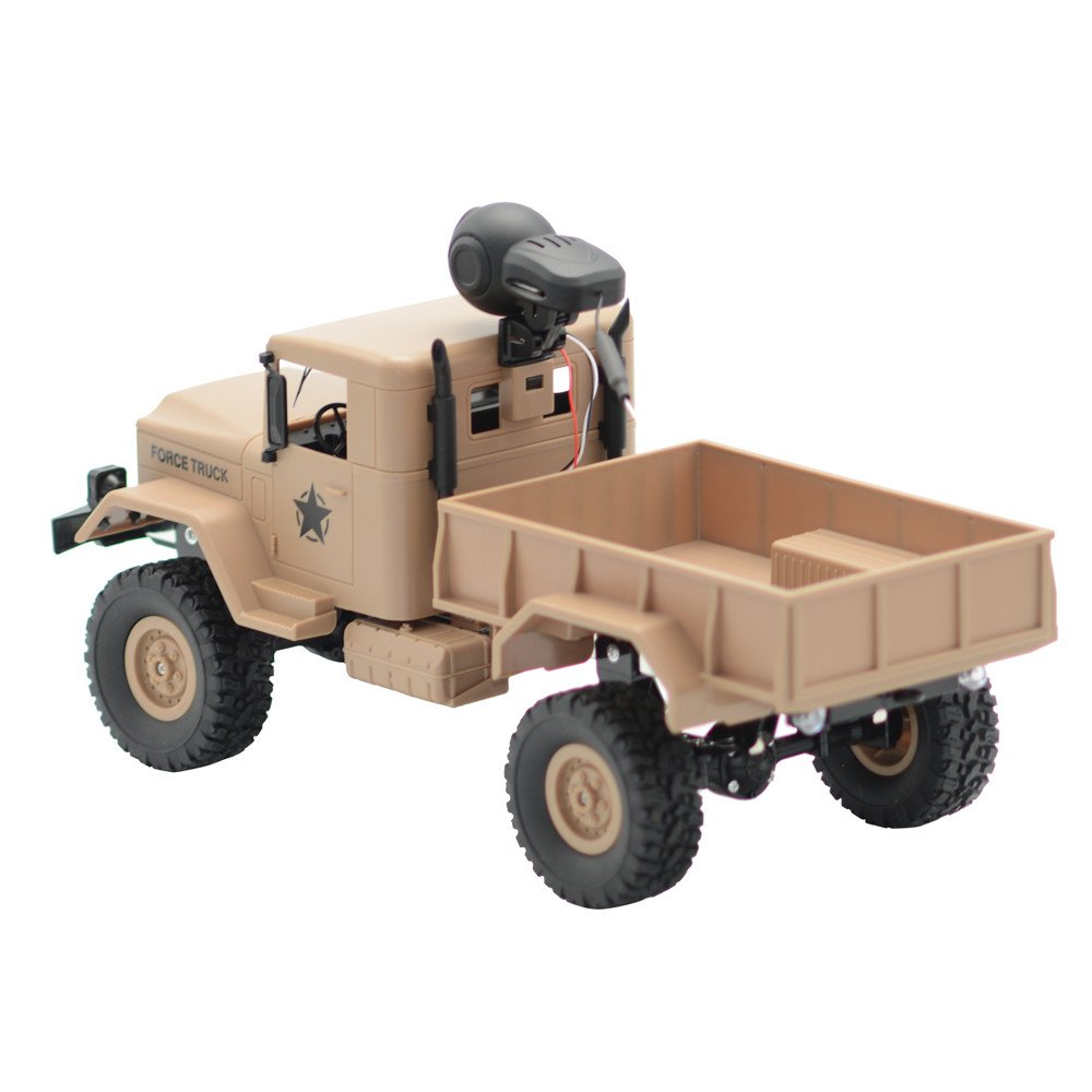 RC Military Truck Army With WIFI 720P Camera 1:16 4WD Off-Road Car RTR APP Control ,Racing Vehicles Car Toy Track Cars Toys Birthday Gift for Kids Toddlers Boys,Car Toys for 1 Year Old (Yellow) by DICPOLIA (Image #5)