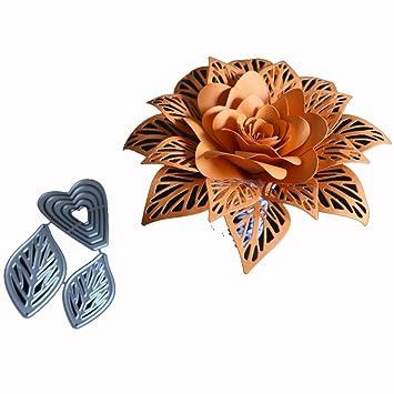 Lotusflower New Flower Metal Cutting Dies Stencils Diy Scrapbooking