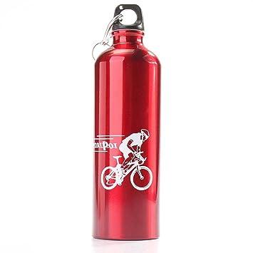 Aleación de aluminio OUTERDO ciclismo Camping hervidor de agua para bicicleta Deportes viajero senderismo botellas de