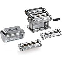 Multipast, Machine à Pâtes manuelle avec accessoires inclus pour Raviolini, Spaghetti et Reginette.