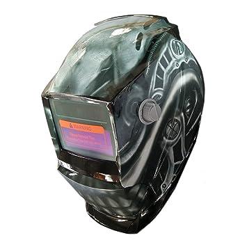 Oscurecimiento automático ARCO TIG MIG soldador pulir lentes Máscaras Caretas para soldar de Seguridad Patrón de Los dientes rectos: Amazon.es: Bricolaje y ...