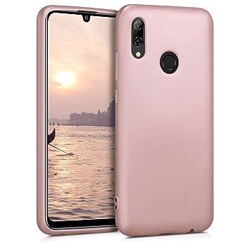kwmobile Funda para Huawei P Smart (2019) - Carcasa para móvil en TPU Silicona - Protector Trasero en Oro Rosa Metalizado