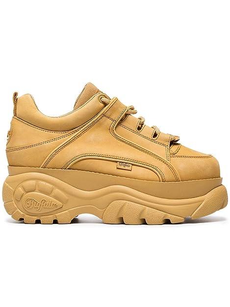 BUFFALO LONDON - Zapatillas de Gimnasia de Piel Lisa Mujer, Beige (Beige), 39 EU: Amazon.es: Zapatos y complementos