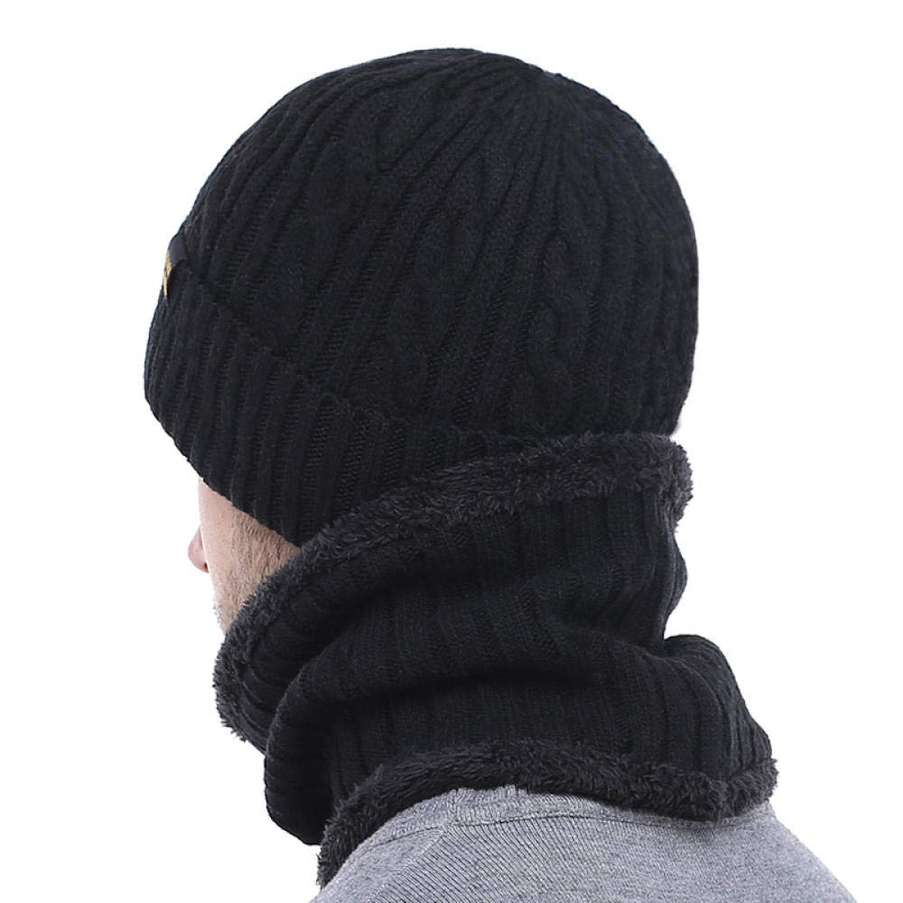 Winter Hat Scarf Skullies Beanies Men Bonnet Beaniefor Men Women Gorras Warm Hats Wool Male Black Knitted Hat Cap@Khaki hat