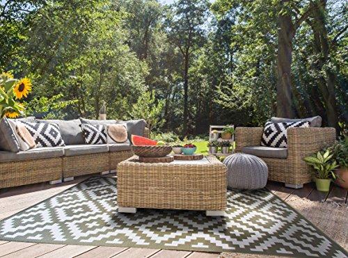 Outdoor Olive - HOMEGNOME Indoor Outdoor Moroccon Trellis Rug 5'3